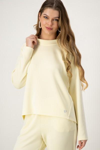 Sweater mit Kragen in Gelb von JUST WHITE